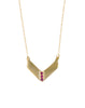 RUBY PAVE CHEVRON NECKLACE - GOLD