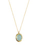 Aqua Chalcedony Necklace - Gold