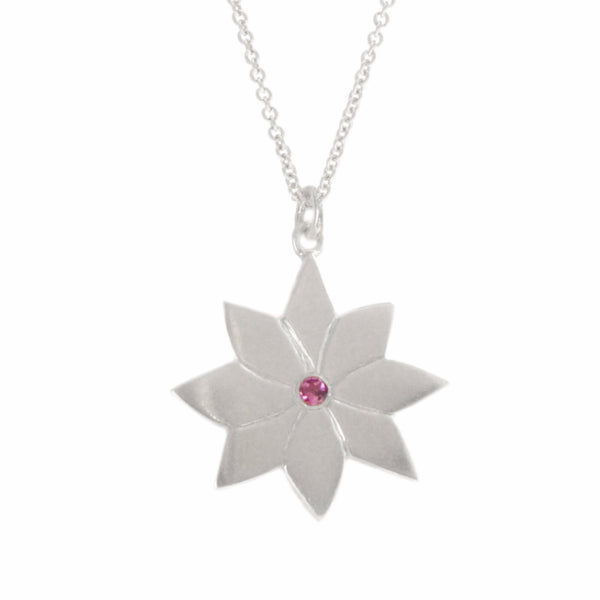 ENGLISH DAISY PENDANT, SILVER