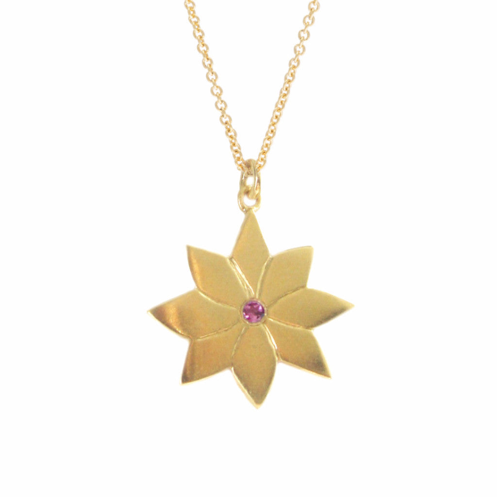 ENGLISH DAISY PENDANT, GOLD