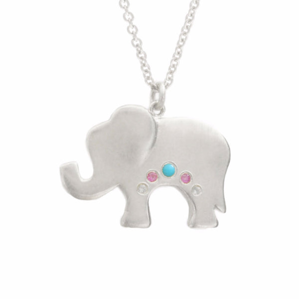 MINI ELEPHANT NECKLACE, SILVER