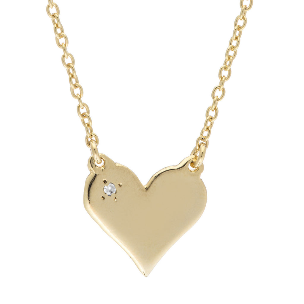 GOLD TOPAZ HEART NECKLACE