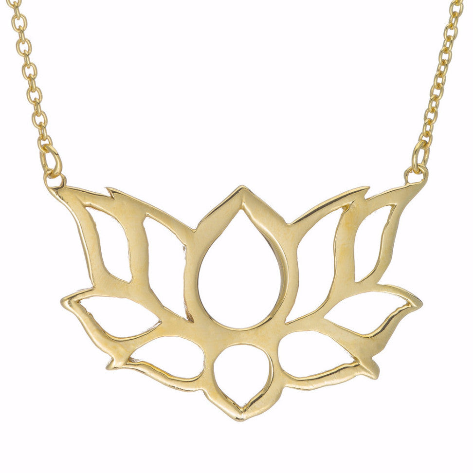 with silver pendant lotus en sterling stone