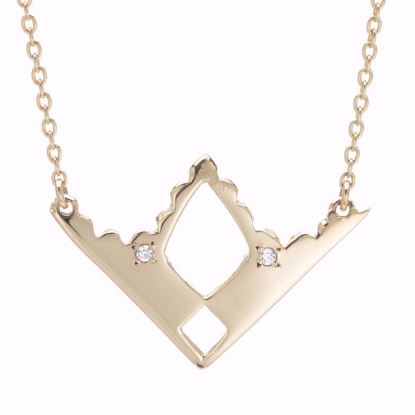 GOLD TOPAZ ARROW NECKLACE