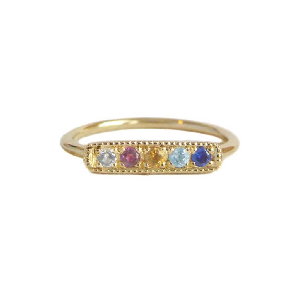 Florid Bar Stacking Ring