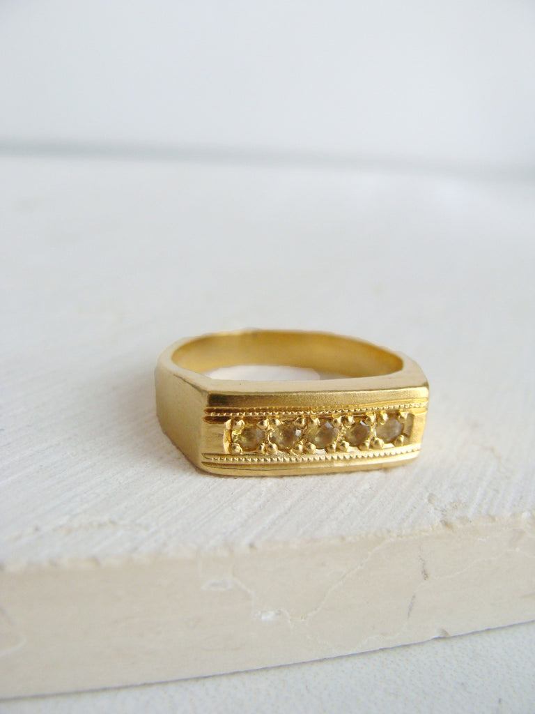 Honey Plane Signet Ring
