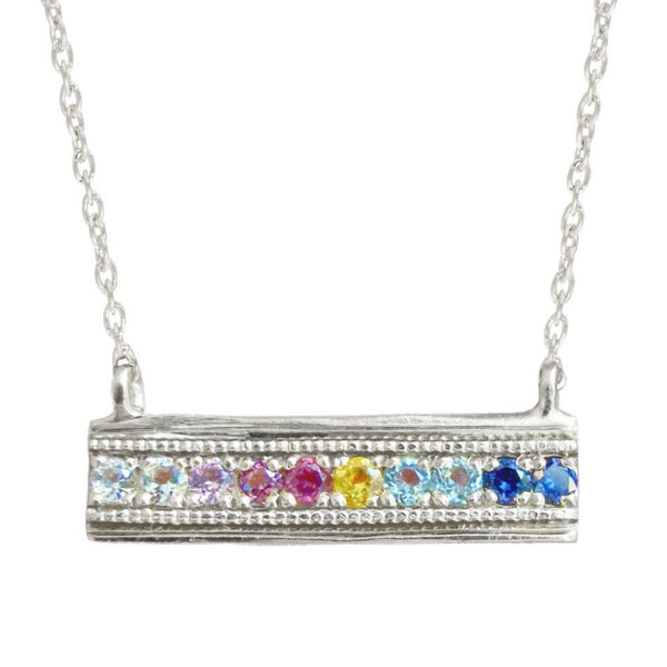 FLORID TIER NECKLACE, SILVER