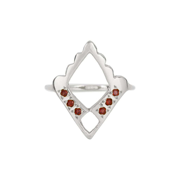 ROYAL GARNET RING - SILVER