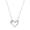SMALL TOPAZ HEART NECKLACE - SILVER