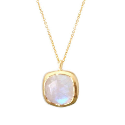 Cushion Moonstone Pendant