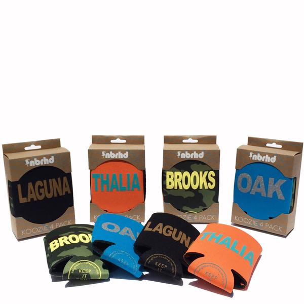 Koozie 4 Pack assorted