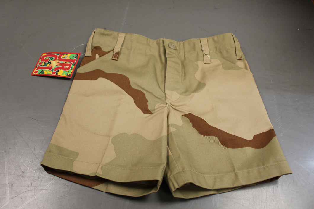JR GI Tri Color Desert Camo Childrens Shorts, Size: X Small, New