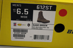 Belleville 612 ST Hot Weather Tactical Steel Toe Boot, Size: 6.5W, New