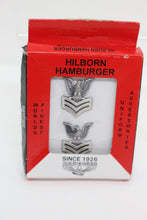 Load image into Gallery viewer, Hilborn Hamburger E-6 Petty Officer Second Class Eagle Rank Insignia Pin, Boxed Set, New!