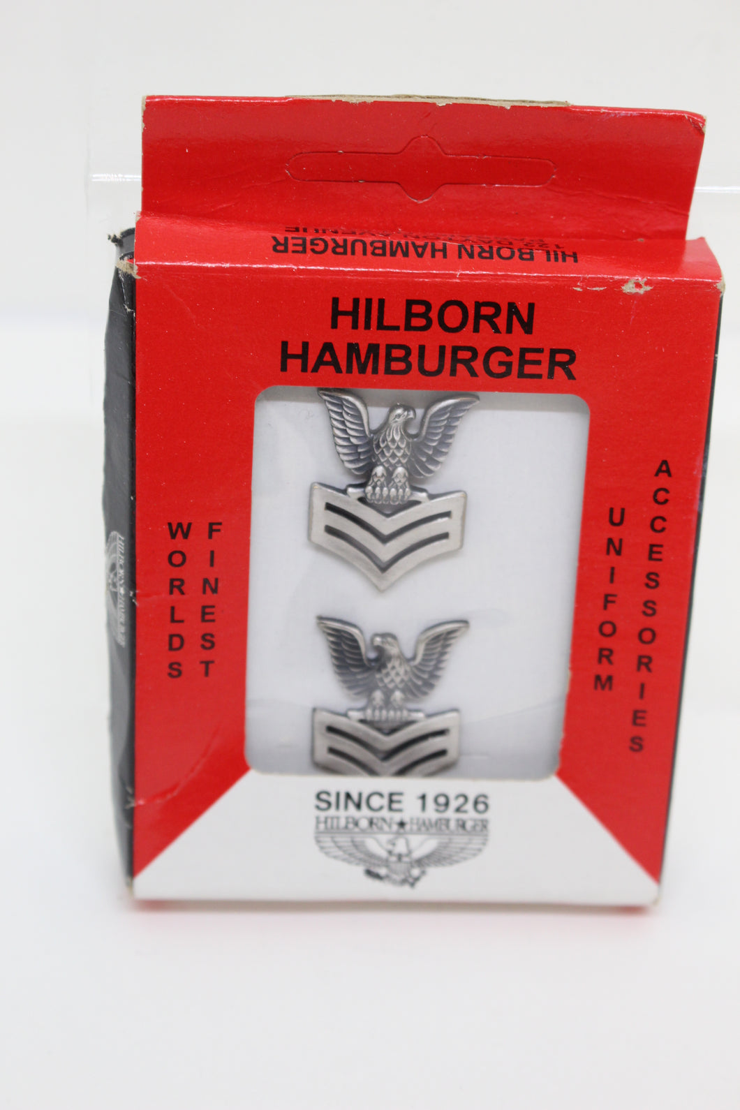 Hilborn Hamburger E-6 Petty Officer Second Class Eagle Rank Insignia Pin, Boxed Set, New!