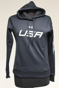 Under Armor Storm USA Cold Gear Hoodie, Size: X Small, RW&B on Sleeves