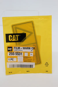 Caterpillar Warning Crush 255-5531, Film-Warn Cr, 7690-01-610-2876, New