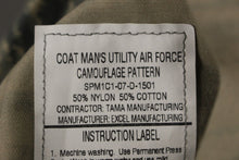 Load image into Gallery viewer, USAF Men's Utility Coat, Digital Tiger, Size: 44L, NSN: 8415-01-536-4591, New!