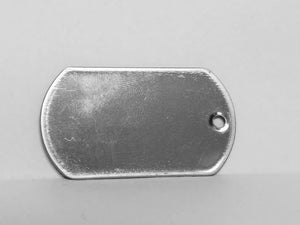 Blank Dog Tag, Stainless Steel