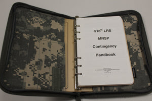 916th LRS MRSP Contingency Handbook with ACU Rite In The Rain Case