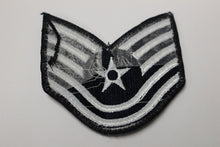 "Load image into Gallery viewer, AF Air Force Embroidered Chevron Technical Sergeant E-6, Small, 3.5"","