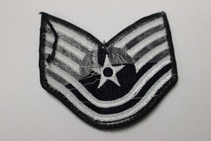 "AF Air Force Embroidered Chevron Technical Sergeant E-6, Small, 3.5"","