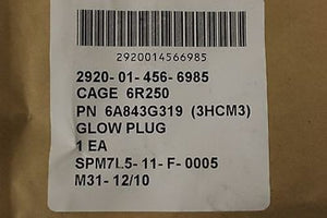 Glow Plug for a Detroit Diesel 8V71, NSN: 2920-01-456-6985, P/N:6A843G319, New!