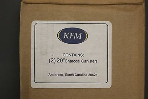 "Set of 2 KFM 20"" Charcoal Canisters, P/N 999AP, 2 per box, NEW!"