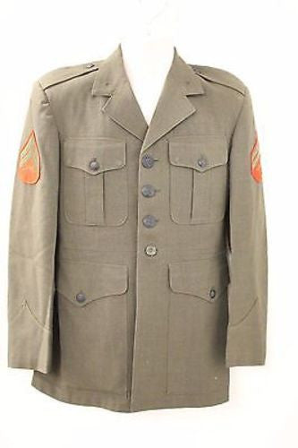 Vintage Men's Military Coat, Size: Unknown, Color: Green