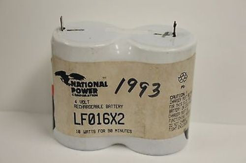 National Power Corp 4V Rechargeable Battery, LF016X2, New