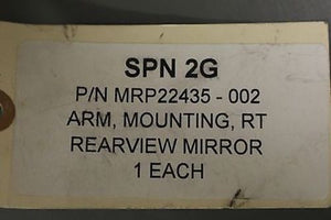 Rearview Mirror Arm, P/N: MRP22435-002, NSN: 2540-01-583-4959, New