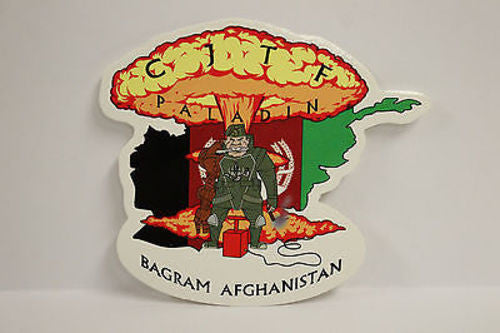 CJTF Combined Joint Task Force Paladin, Bagram Afghanistan Window Decal