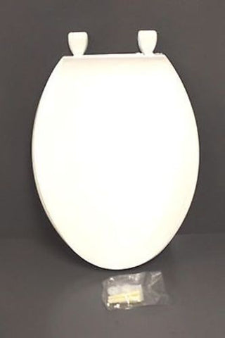 Centoco Solid Plastic Seat for Elongated Bowl, White, NEW!
