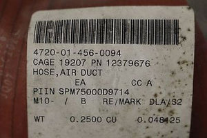 Air Duct Hose, P/N: 12379676, NSN: 4720-01-456-0094, New