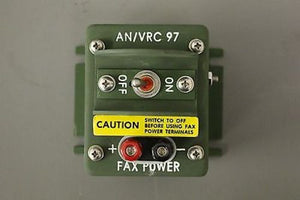 General Dynamics Power Switch For AN/VRC 97 Radio, NSN: 5930-01-261-2896, New