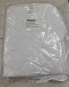 "Set of 6 Mattress Pads, White, 29"" x 76"" Polyester Cotton Blend 7210-01-306-3243"