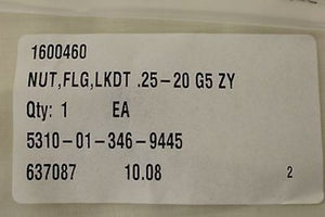 Oshkosh Corp Self-Locking Extended Washer Nut 1600460, 3901448,5310-01-346-9445