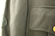 Load image into Gallery viewer, Vintage Men's Military Coat with Metal Buttons, Size: 41R, Color: Green