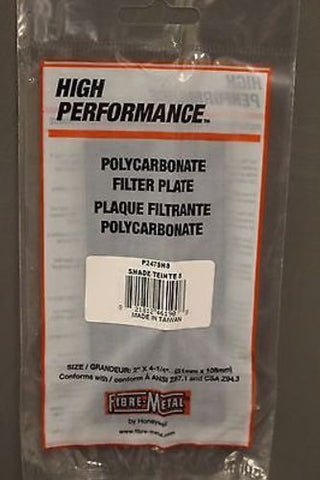 "Welding Helmet Polycarbonate Filter Plate, Box of 50, P247SH8, 2"" x 4-1/4"" New"