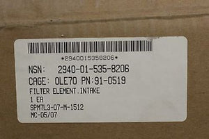 Universal Silencer Intake Air Filter, NSN 2940-01-535-8206, NEW!