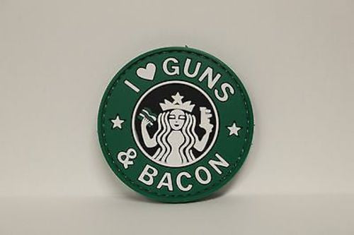 5ive Star Gear I Love Guns and Bacon Morale Patch, 2.25