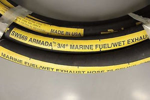 Parker SW569-750 Marine Fuel/Wet Exhaust Hose, 50' roll