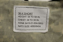 Load image into Gallery viewer, ACU Army Combat Coat, Size: 36-X Short, NSN:8415-01-604-5853, New