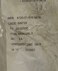 Nonmetallic Hose Assembly for M1114 Up-Armored HMMWV, P/N 20-02506