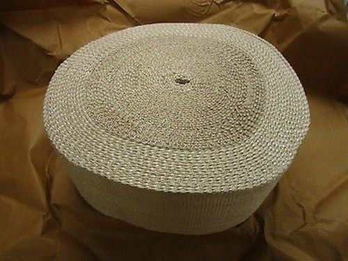 100 Ft Fire Resistant Glass Textile Tape, Part Number: MIL-C-20079, New