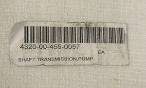 Transmission Pump Shaft, NSN 4320-00-455-0057, P/N 834630, NEW!
