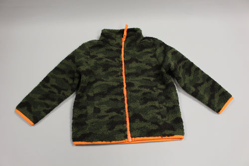 Amazon Essentials Boy's Polar Fleece Lined Sherpa Full-Zip Jacket, Camo Print, 3T, New