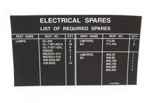 Load image into Gallery viewer, C130J Aircraft Electrical Spares Decal, 7690-01-476-5289, 3352515-3, New