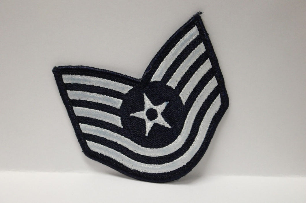 AF Air Force Embroidered Chevron Technical Sergeant E-6, Small, 3.5