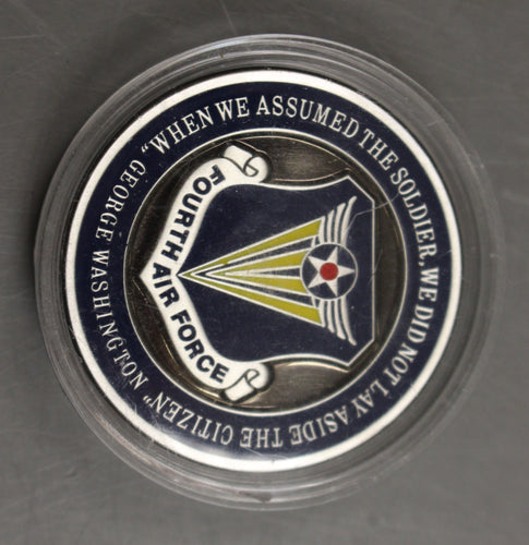 4th Fourth Air Force Commander for Outstanding Service Challenge Coin